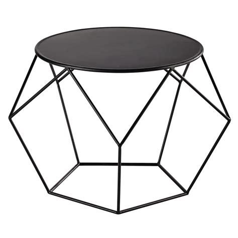 Metal round coffee table in black D 64cm Prism   Maisons du Monde
