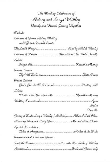 Wedding Program Wording Template by Wedding Ceremony Program Templates Beneficialholdings Info