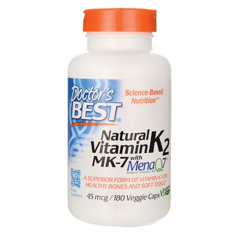 Doctor S Best Mk 7 Featuring Menaq7 Vitamin K2 100 Mcg 60 doctor s best vitamin k2 mk 7 with menaq7 45 mcg 180 veg caps swanson health products