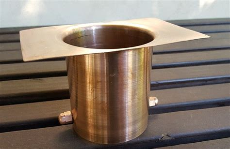 design large  copper rain chain installation kit