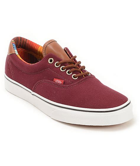 era vans vans era 59 port royale multi stripe skate shoes mens
