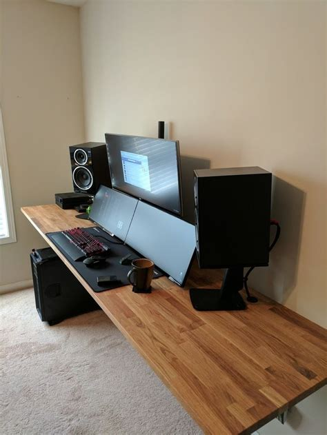 gaming computer desk setup 38 best pc build desktop setup images on