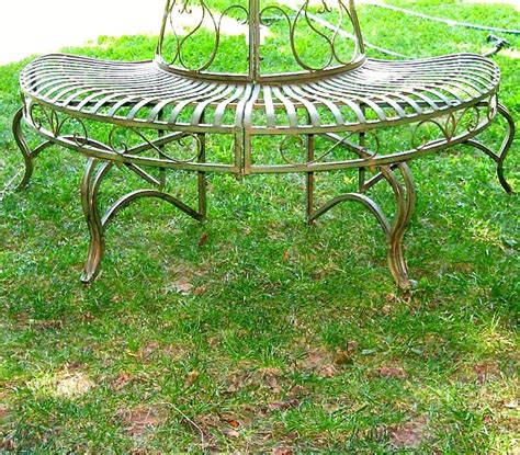 round tree bench 1 2 round tree bench plant stand 30 5 high wrought iron