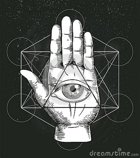 sacred geometry symbol all seeing eye stock vector illustration with sacred geometry and all seeing eye symbol inside triangle