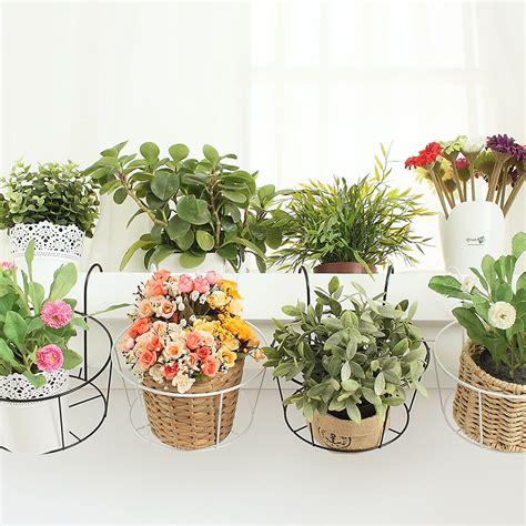 Flower Pot Rack european iron flower pot rack black and white 2piece dormitories hanging basket rack wedding