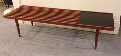 mid century slat bench 1950 s vintage mid century modern wooden slat bench sold past perfect