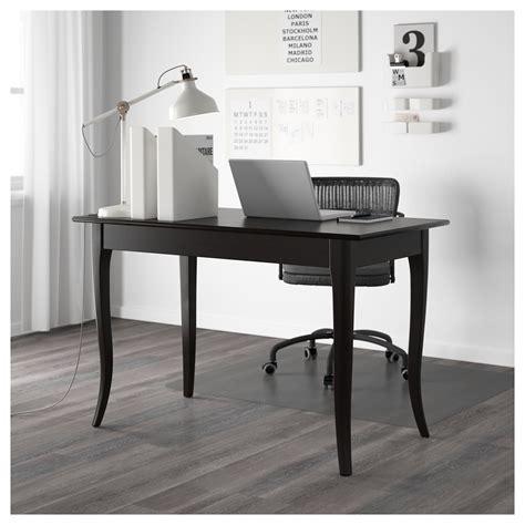 leksvik desk black 119x60 cm ikea