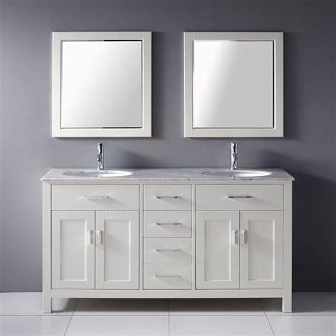 spa vanities for bathrooms shop spa bathe kenzie white undermount double sink