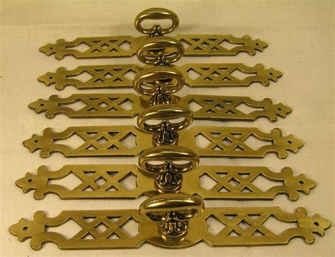 vintage style dresser drawer pulls 5 vintage style brass handles pulls knobs 6 quot long cabinet