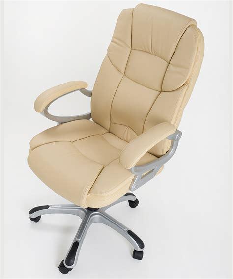 sedia presidenziale poltrona in eco pelle beige da ufficio presidenziale