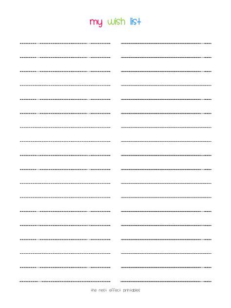 printable wish list template printable wish list template