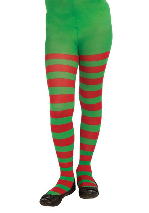Stripe Tights child green striped tights
