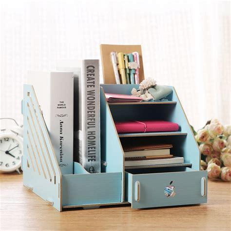fashion color office desk organizer wood cabinet diy