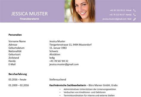 Lebenslauf Vorlage Schweiz Word Lebenslauf Vorlage Berufst 228 Tige Violett Diejobberater