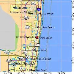 delray florida fl population data races