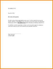 regine letter format in formal resignation format