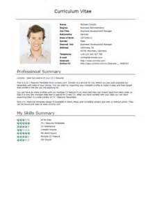 Brief Resume Template by Free Cv Templates Normal Comoto