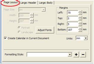 pengaturan page layout skripsi membuat kalender meja dg coreldraw berbagi apa saja