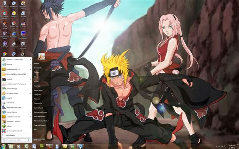 naruto opening themes download naruto shippuden win 7 theme by windowsthememanager on