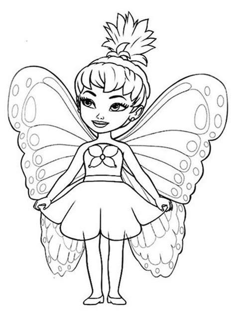 cute  disney fairies coloring page