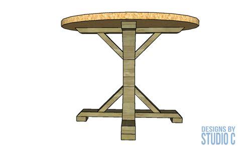 diy furniture plans  build   dining table pedestal