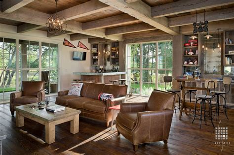 rustic family room furniture rustic family room with exposed beam by locati architects zillow digs