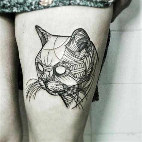 tattoo geometric cat best geometric cat tattoo idea