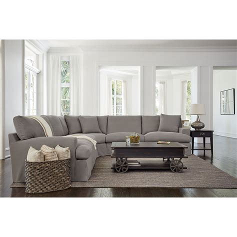 delilah gray fabric large  arm sectional