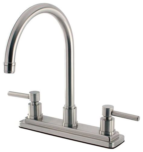 modern kitchen faucet contemporary modern concord satin nickel kitchen faucets