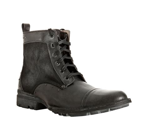 nason boots nason leather trim canvas onestep lace up boots in