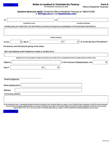 Lease Termination Letter Wa 28 notice to terminate tenancy form washington state northern territory notice of