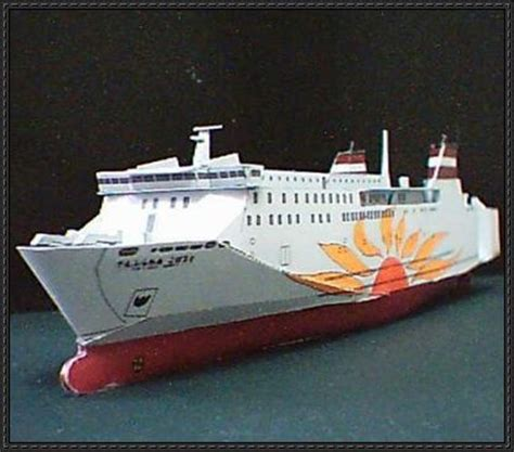 Ship Papercraft - papercraftsquare new paper craft cobalt sunflower