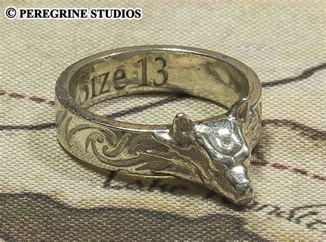 hicks pendant replica hircine s ring polished silver by peregrinestudios on deviantart