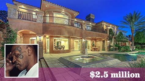 mike tyson house boxing ch mike tyson lands a 2 5 million home near las