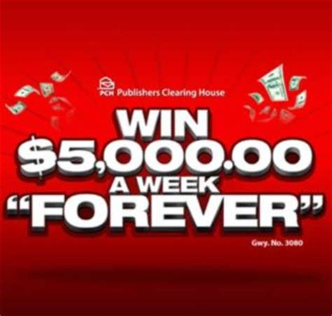 Weekly Sweepstakes - pch com 5 000 a week for life sweepstakes