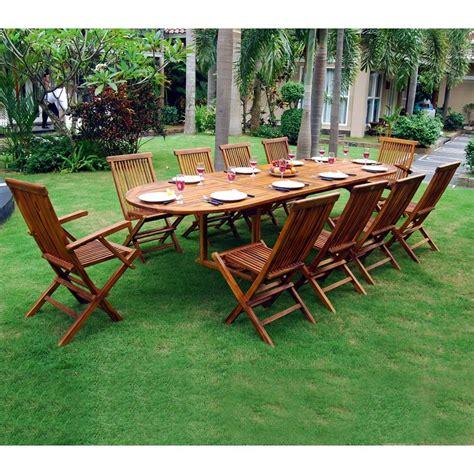salon de jardin 10 places ensemble salon de jardin en teck huil 233 10 12 places table ovale 165 jardin piscine