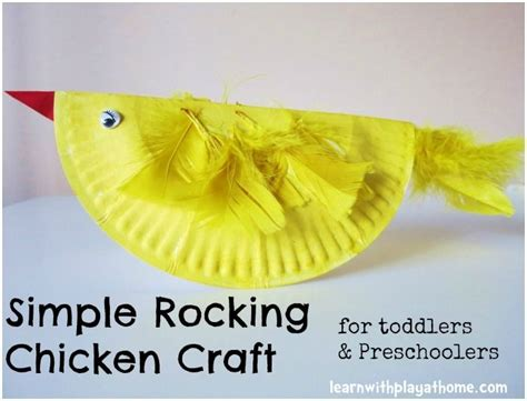 Simple Paper Plate Crafts - simple paper plate rocking chicken easter craft chicken