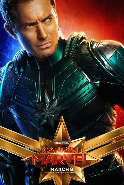 captain marvel character posters reveal brie larson goose   collider