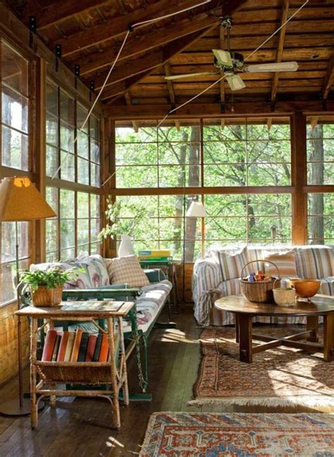 lakeside bungalow camp house  porch home