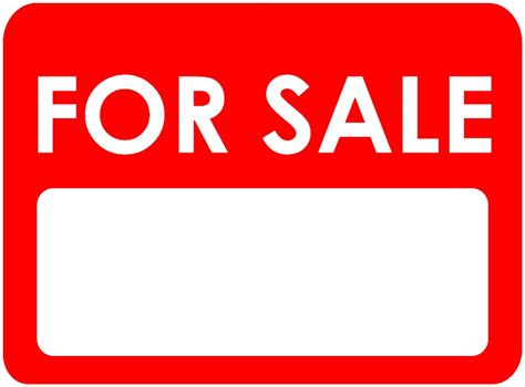 for sale sign template clipart best