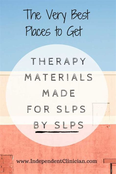 Therapy Resources The Best Speech Therapy Materials Made For Slps By Slps