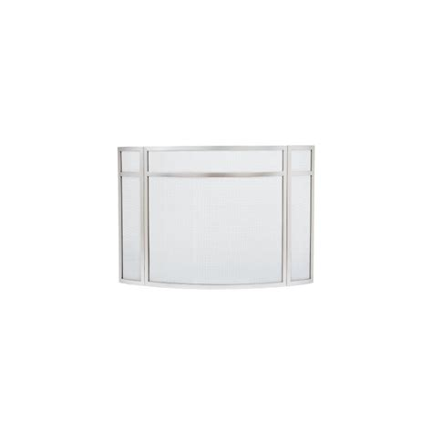 Stainless Steel Fireplace Screen by Stainless Steel Panelled Curved Folding Fireplace Screen