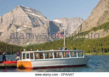 swift current boat cruise excursion boat on swiftcurrent lake many glacier area