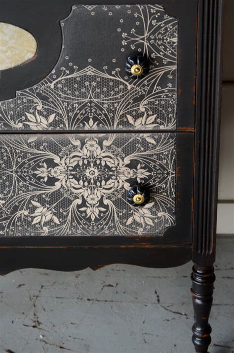 Wallpaper On Dresser by Dishfunctional Designs Paint It Black Stylish Black Painted Furniture