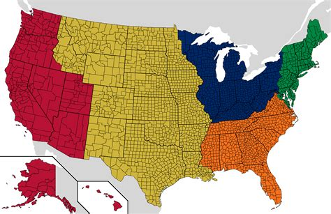 united states map divided into 5 regions america is big here s how to split it into five uk