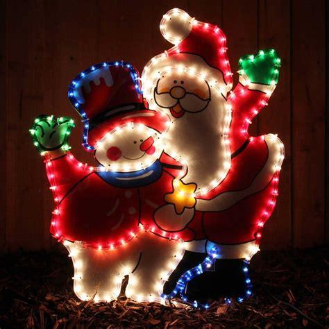 rope light santa large santa snowman rope lights silhouette outdoor garden decoration ebay