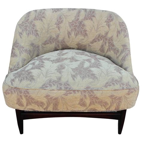 low profile seating pair of low profile slipper lounge chairs for sale