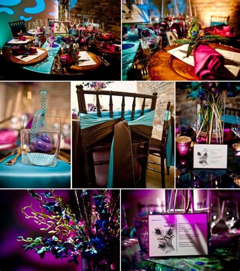 quinceanera colors and color scheme ideas my vintage peacock theme wedding what do you think