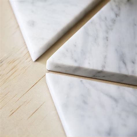 triangle marble triangle marble trivet general store