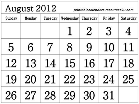 Calendario Negro Calendarios De Agosto 2012 En Blanco Y Negro Mil